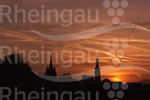 Rüdesheimer Altstadt bei Sonnenuntergang